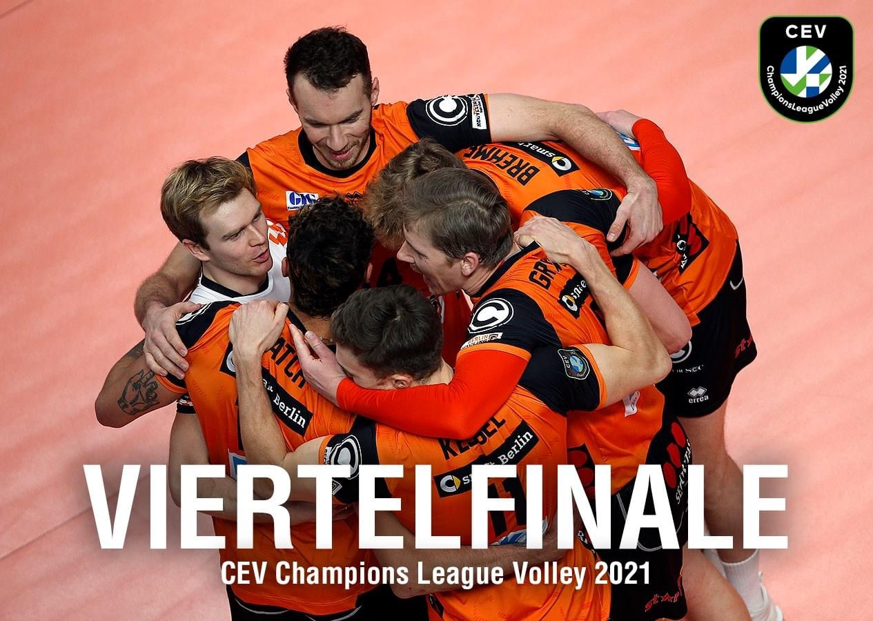 BR VOLLEYS IM CHAMPIONS-LEAGUE-VIERTELFINALE
